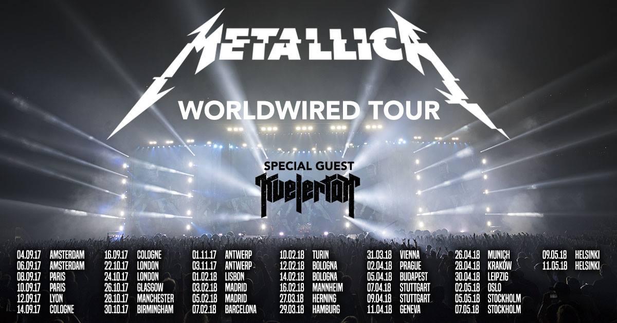 Metallica tour dates in Melbourne