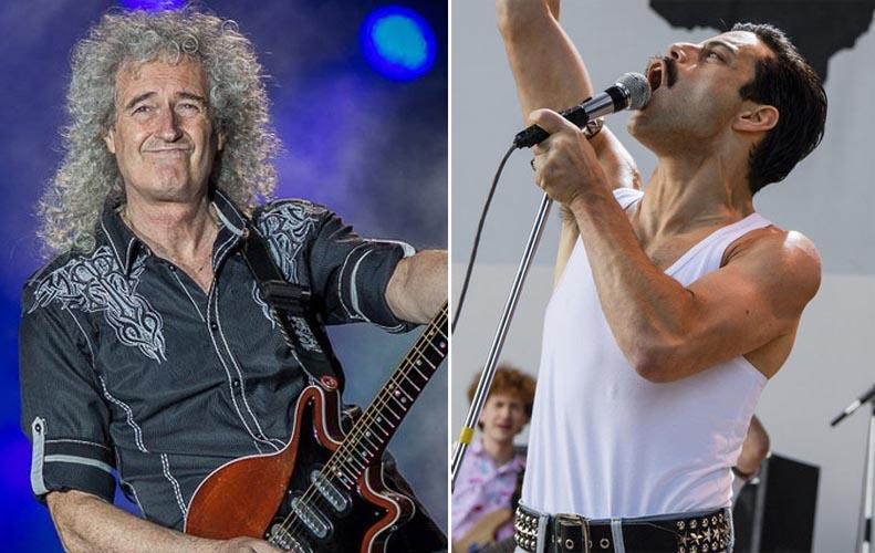 Brian May Talks On Rami Malek As Freddie Mercury In Queens Movie