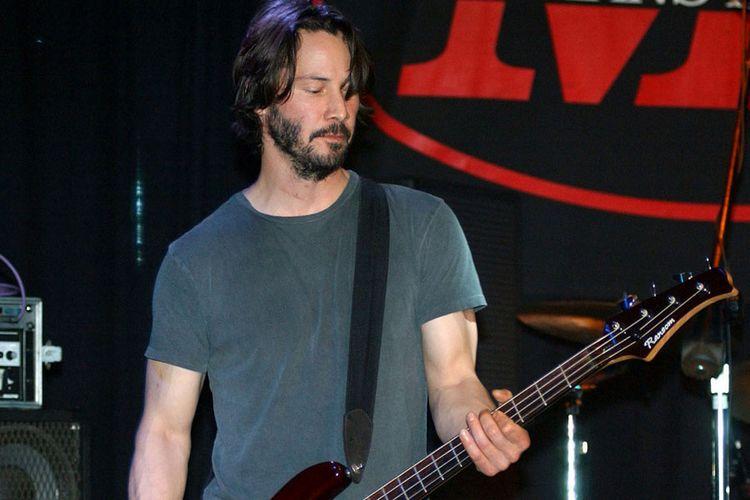 Image result for keanu reeves guitar