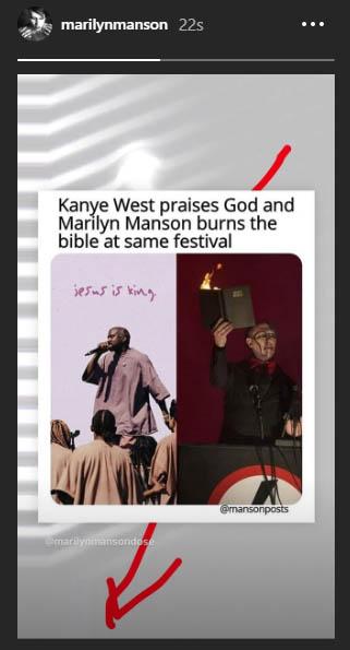 Marilyn Manson Mocks Kanye West's Religious Stuff - Metalheadzone