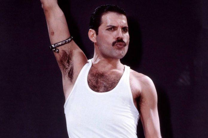 Freddie Mercury wearing the Chevron mustache style